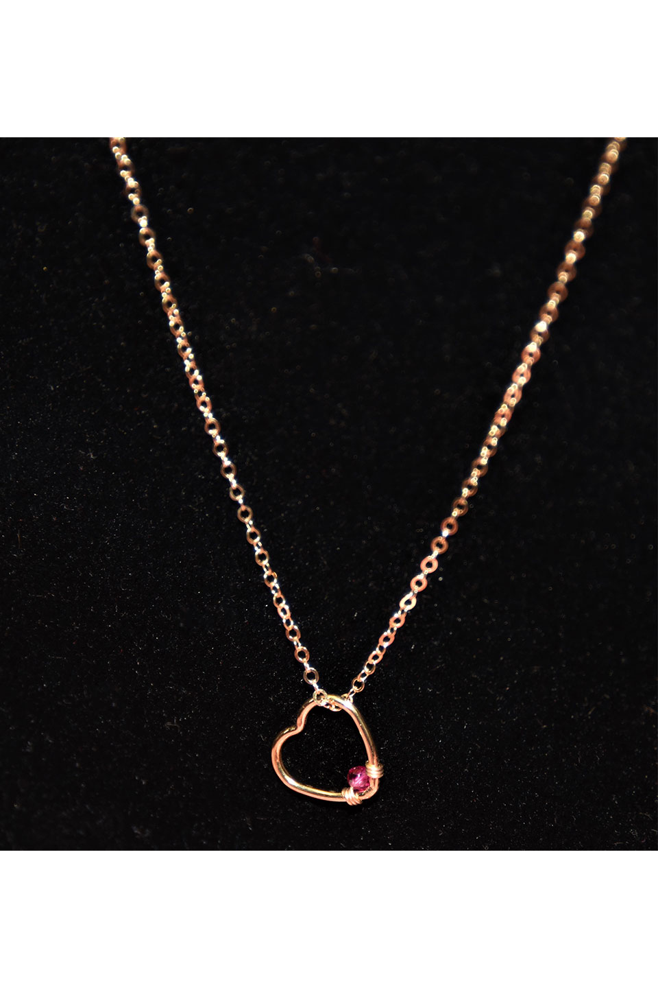 Amorcito Ruby Heart Necklace