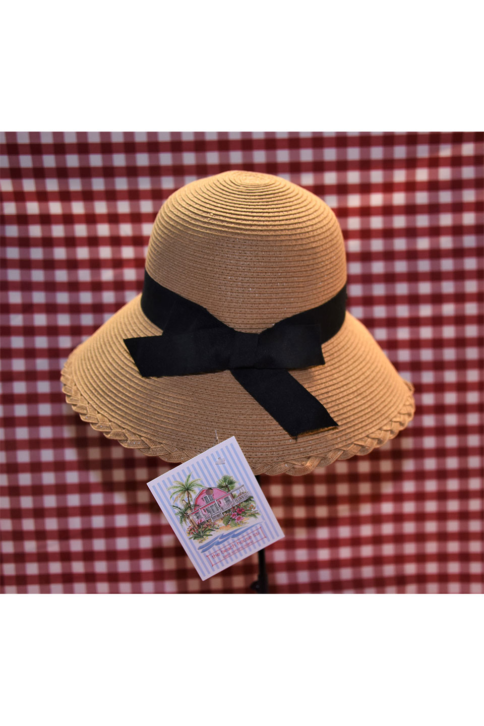 Sun and Sand Black Ribbon Hat