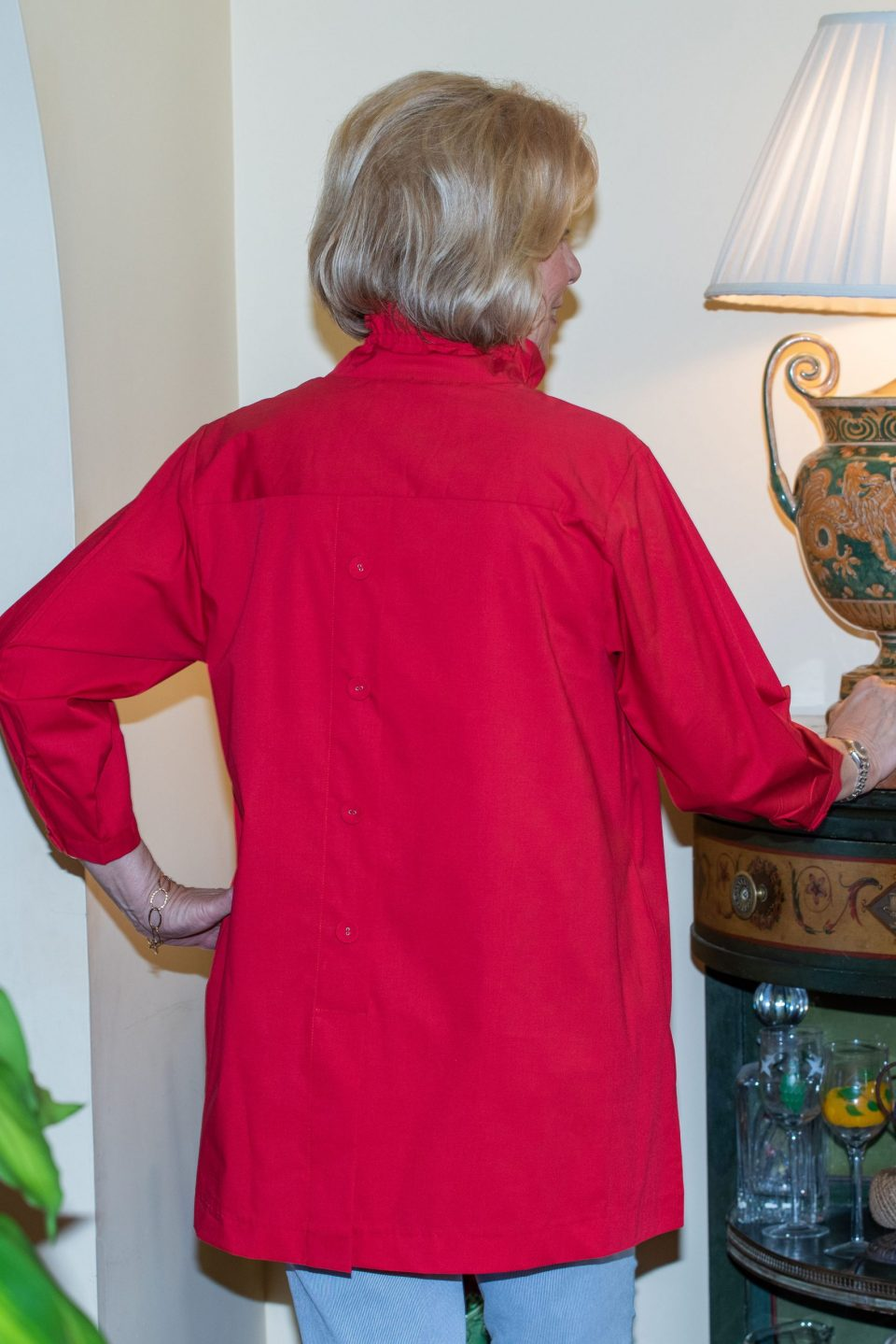 Beach House Blouse Red Red- Diane Bailey Designs
